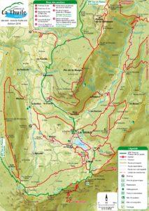carte des sentiers lac de la thuile